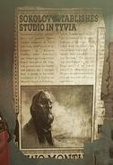 Sokolov establishes studio