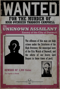 Unknown Wanted Poster High Overseer