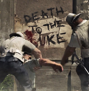 Graffiti death to the duke