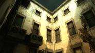 Daud hideout courtyard