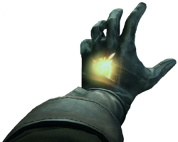 Daud's mark glows as he uses one of his powers.