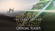 Star Wars The Force Awakens Official Teaser