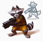SamNielson Rocket Raccoon Paint