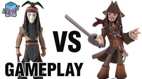 CoinOpTV - Disney Infinity TONTO vs JACK SPARROW Gameplay