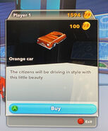Playset-Incredibles-Orange car