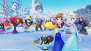 Elsa, Anna, and Vanellope against baddies