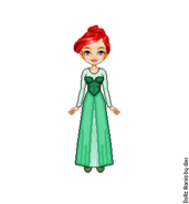 Ariel s green dress by lolascheving-dc7qaz1