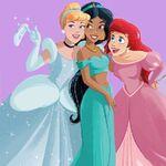 Cinderella Jasmine Ariel hanging out