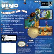 Finding Nemo The Continuing Adventures Back Cover (NA Release)