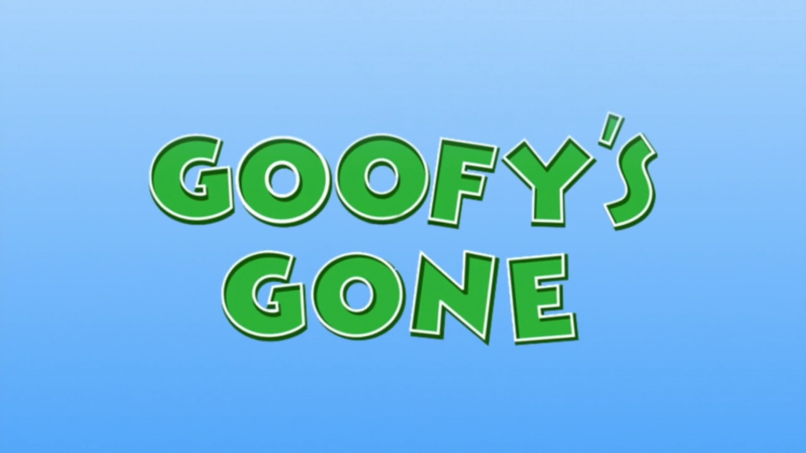 Goofy's Gone
