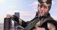 Loki catches Hawkeye's arrow - The Avengers