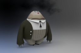 Zbrush doodle day 693 gloom inside out update by unexpectedtoy-dap4gas.png