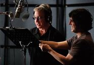 Lee Unkrich supervising Tim Allen's recording session TS3