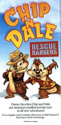Chip n' Dale Rescue Rangers - Promotional Print Ad from 1989 Disneyland Guide Book.jpg