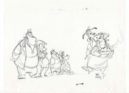 Early Character Art for Goof Troop, including a design of Max's mother simply labelled as 'Mrs Goofy'?