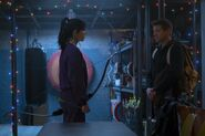 Hawkeye - EW First Look - Kate and Clint