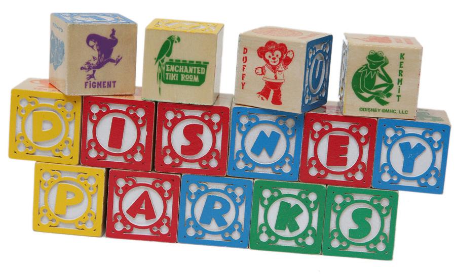 Classic ABC/123 Wood Blocks & Cart