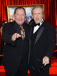 John Lasseter and Brad Bird at Ratatouille premiere