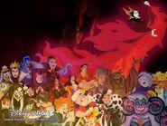 Disney Villains -Fire Wallpaper- copy