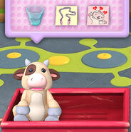 Moo-moo as she appears in doc's summertime clinic