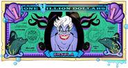 Ursula's One Villain dollar bill