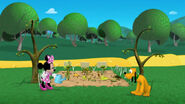 Minnie and pluto ruined vegetable garden