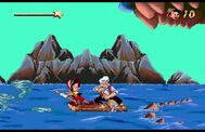 Pinocchio geppetto escaping monstro in game