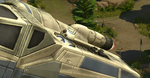 The Sims 4 SW Journey to Batuu - T70 X-wing with droid