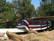 Disneyland Mark VII Monorail Red