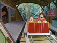 Goofy and son roller coaster