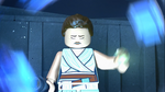 Sad Rey opening the gateway - The LEGO Star Wars Holiday Special