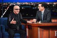 Paul Shaffer visits Stephen Colbert
