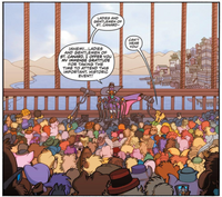 Darkwing and crowd