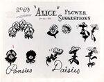 Model sheet 350-8019 flower suggestions pansies daisies blog