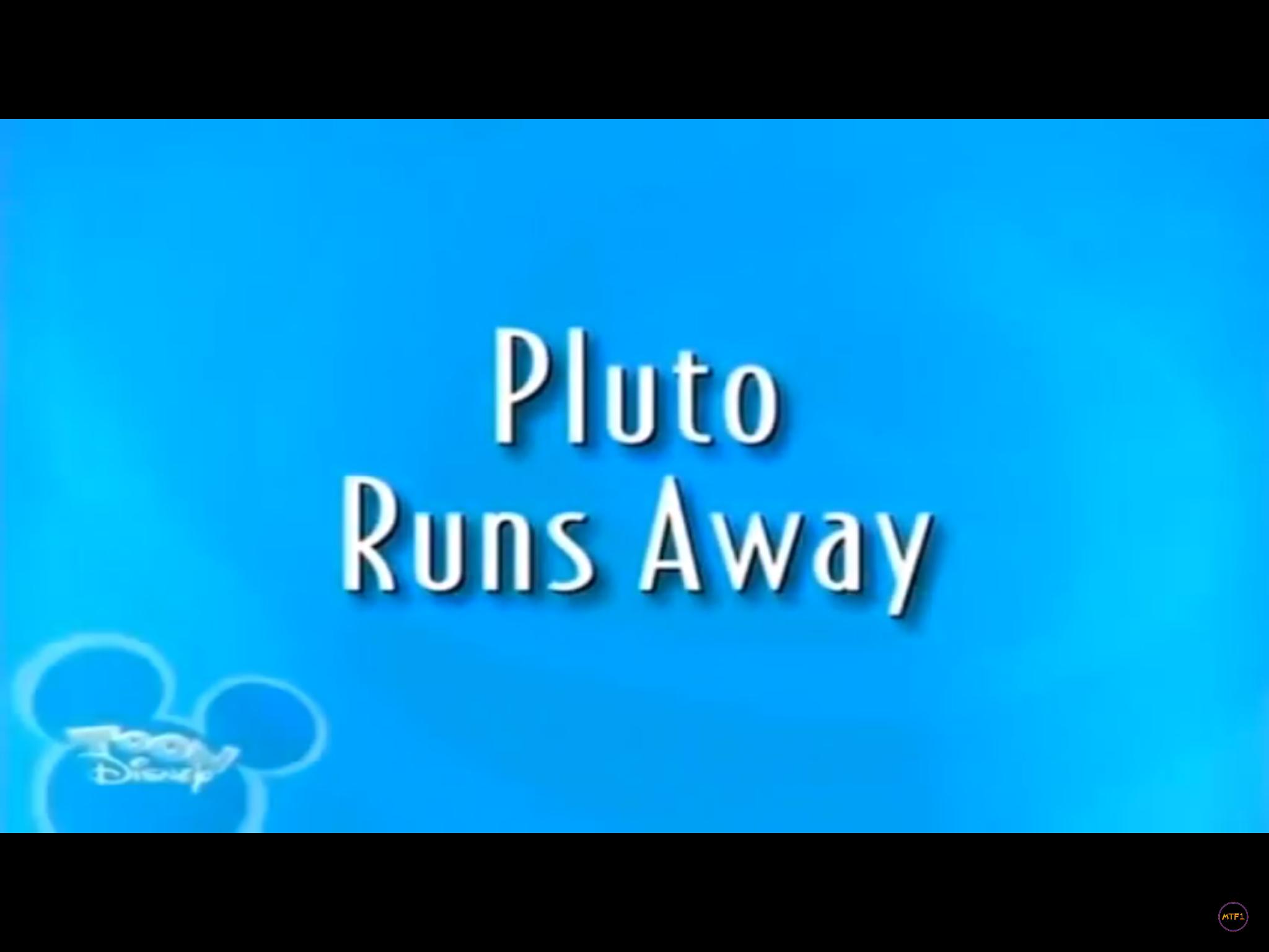 Pluto Runs Away
