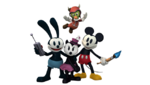 Oswald Ortensia Mickey and Gus . Epic Mickey 2 art