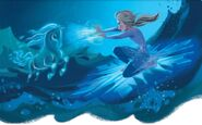 Konzept von Elsa und dem Nokk