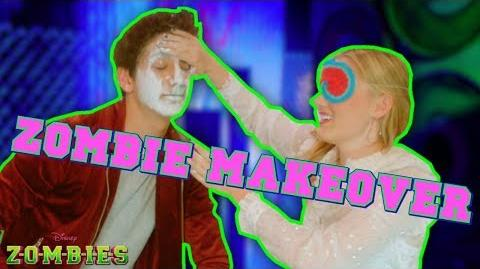 Zombie Makeover Challenge 👄 ZOMBIES Disney Channel