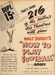 1944 DISNEY FOOTBALL
