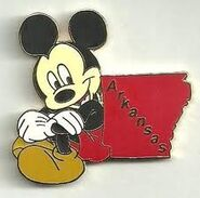 Arkansas Mickey Pin
