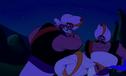 Razoul clubs Aladdin with a baton
