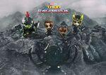 Thor Ragnarok Cosbaby Bobble-Heads - Thor team vs Hela