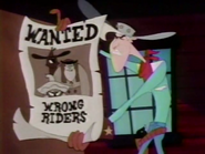 Wrong Riders wanted poster