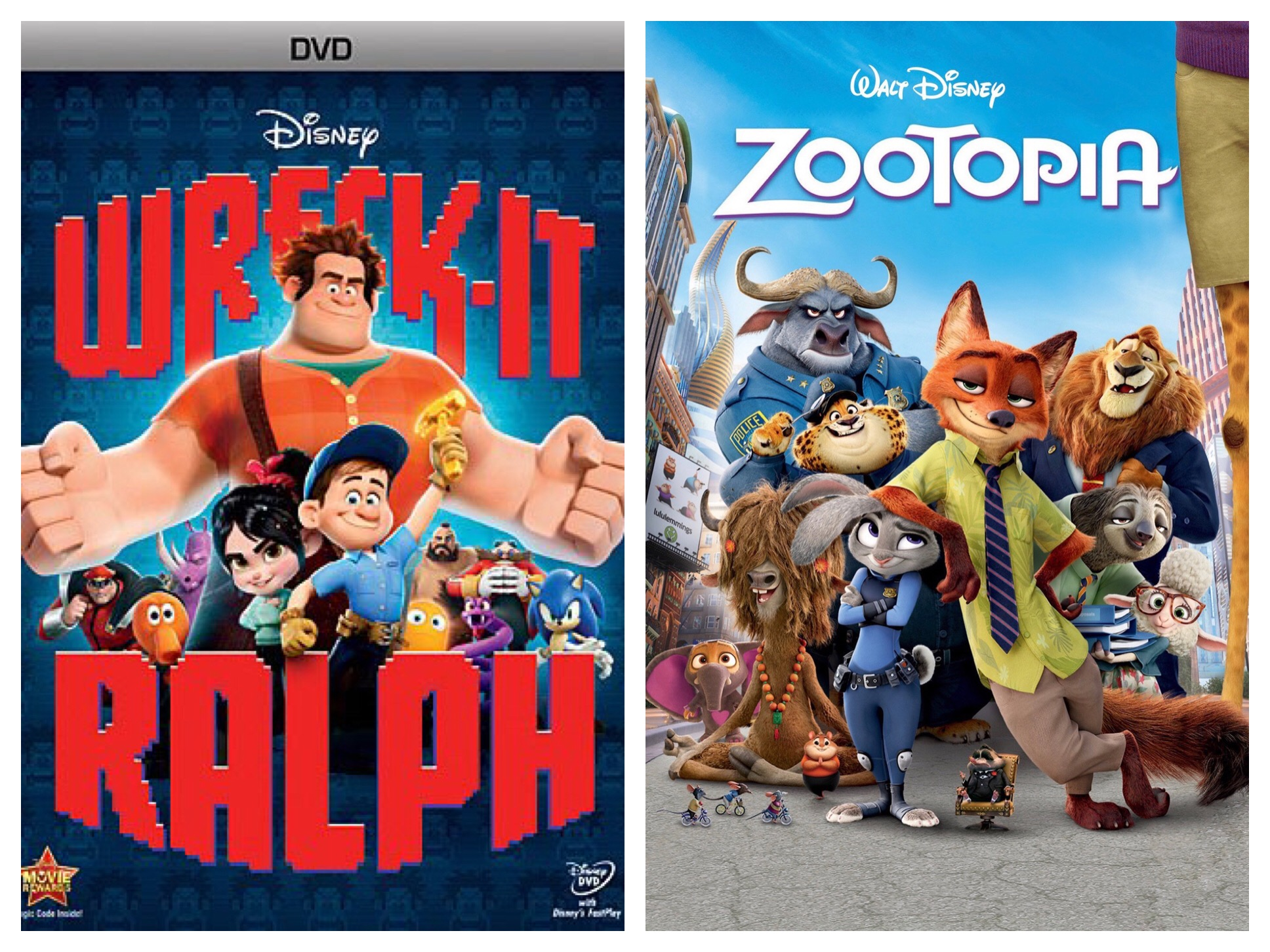 Ratigan6688/Similarities I Have Noticed With Wreck-It-Ralph And Zootopia
