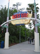 Downtown disney west side sign