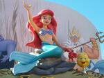 Ariel-waving-with-Flounder-and-Sebastian-Hollywood-Studios-Walt-Disney-World
