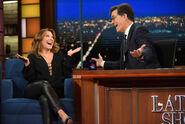 Cheri Oteri visits Stephen Colbert