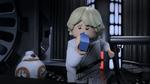 Luke drinks blue milk - The LEGO Star Wars Holiday Special
