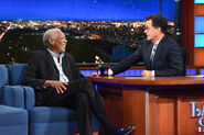 Morgan Freeman visits Stephen Colbert