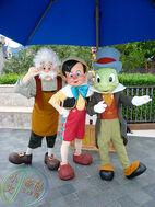 Pinocchio Jiminy Geppetto